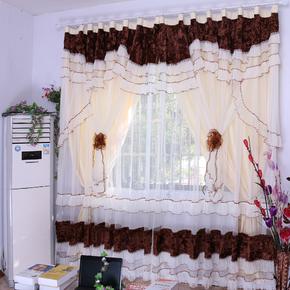 喜庆成品婚纱欧式布艺窗帘定制装饰古典特价包邮客厅奢华卧室高档