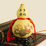 become good causes and conditions of natural openings gourd furnishing articles is hanged wine gourd pyrography stickers small gourd crafts 10 cm coloured drawing or pattern