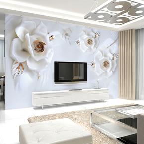 现代简约6D立体墙布大型壁画客厅沙发电视背景墙壁纸卧室床头墙纸