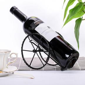 吧台酒柜摆设创意简约客厅红酒架摆件家居装饰品葡萄酒架创意铁艺