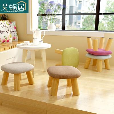 家用小凳子实木时尚创意圆凳客厅布艺沙发凳换鞋凳方凳成人板凳矮