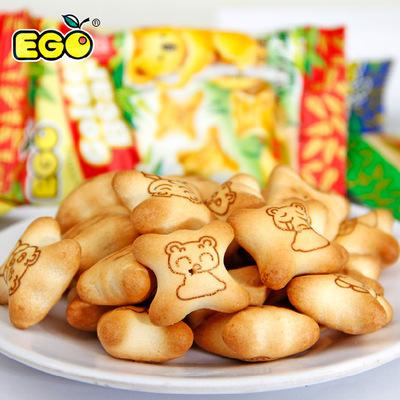 ego金小熊饼干灌心夹心饼干