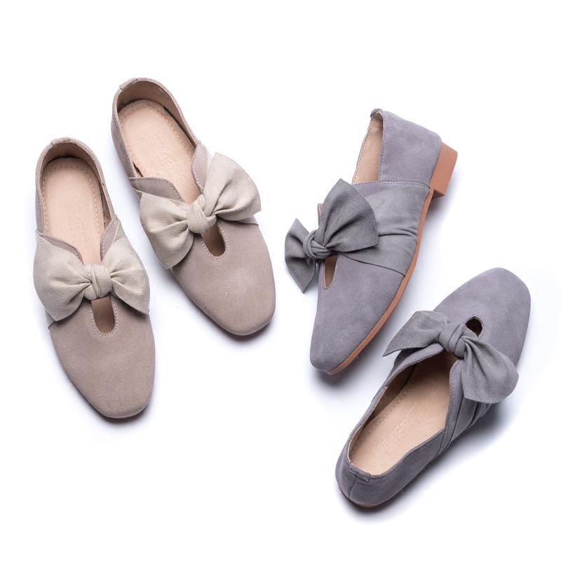 磨砂牛皮女单鞋