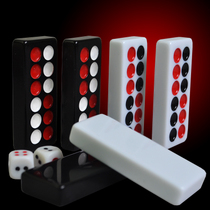 Thickened large melamine black white push card nine long Domino Day nine home with adult card nine Guangdong manic fit Props