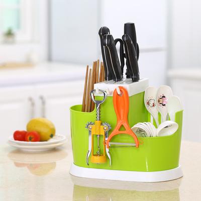 家用刀叉勺分格筷子筒塑料多功能沥水筷篓厨房筷子笼餐具置物架盒