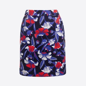 秒发美国J.Crew/ jcrew女士时尚印花迷你裙半身裙
