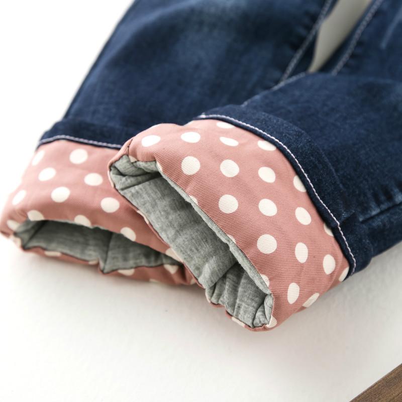 女大童加厚牛仔休闲裤
