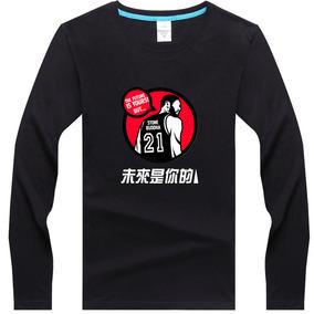 """虎扑2016年官方""""JRs黑话""""马刺队未来是你的邓肯男女长袖T恤衣服"""