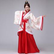 新款汉服女装汉服曲裾古装服装 汉服民族服装女古装曲裾演出服装