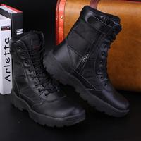 自由骑士特种兵战术靴男秋冬季高帮陆战军靴沙漠靴作战靴快脱加厚