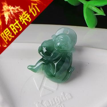 翡翠猴子吊坠
