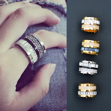 International Cafe Trend Massive Street Show Mixed with High-quality Top-quality Punk Zircon Rings