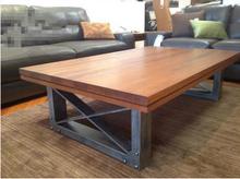 美式乡村铁艺复古实木茶几客厅茶几酒吧桌休闲桌书桌咖啡桌办公桌