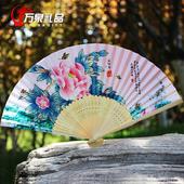 中国风女式折扇 镂空扇子工艺品  送老外朋友 出国中国小礼品