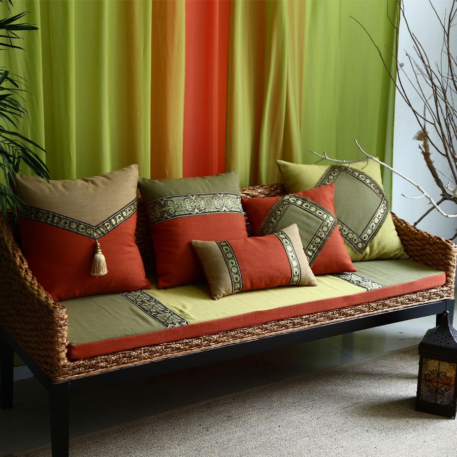 东南亚风格沙发垫
