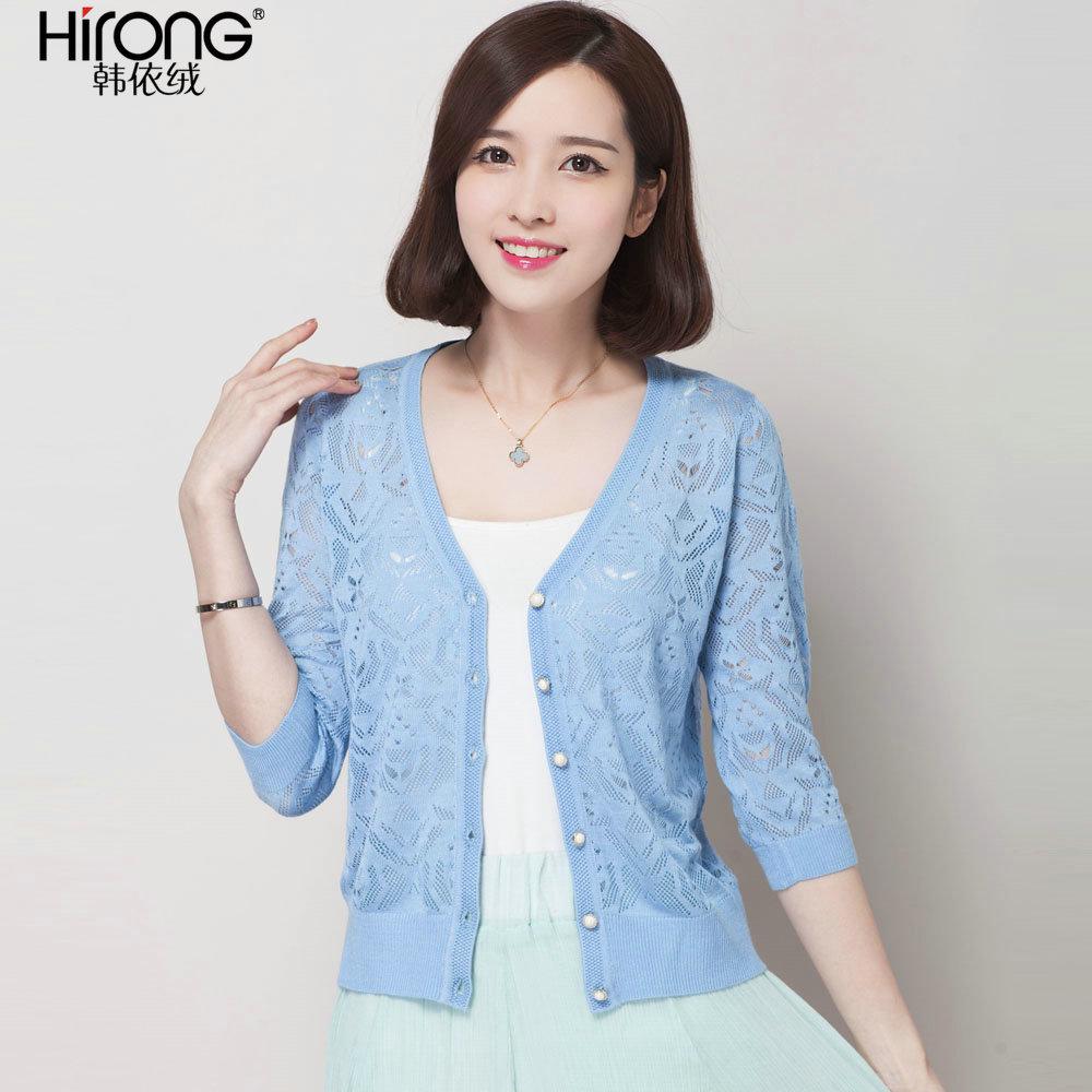 淡蓝色针织衫