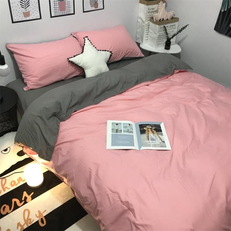 床上用品四件套 粉色