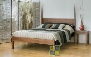 苏州南京无锡北欧实木家具定制上海日式原木双人床实木床定做订作