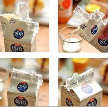 日本进口ECHO 牛奶保鲜夹 牛奶盒封口夹 伸缩密封夹 保鲜夹2枚入