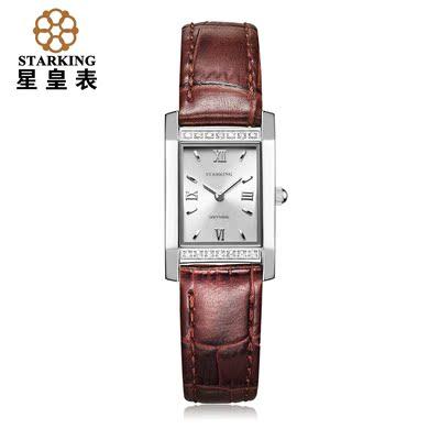 星皇表时尚潮流女表经典复古精钢手表女镶钻皮带腕表免息包邮排行榜