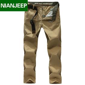 吉普盾Nian Jeep春夏新款休闲裤直筒工装裤男士宽松男裤子潮长裤
