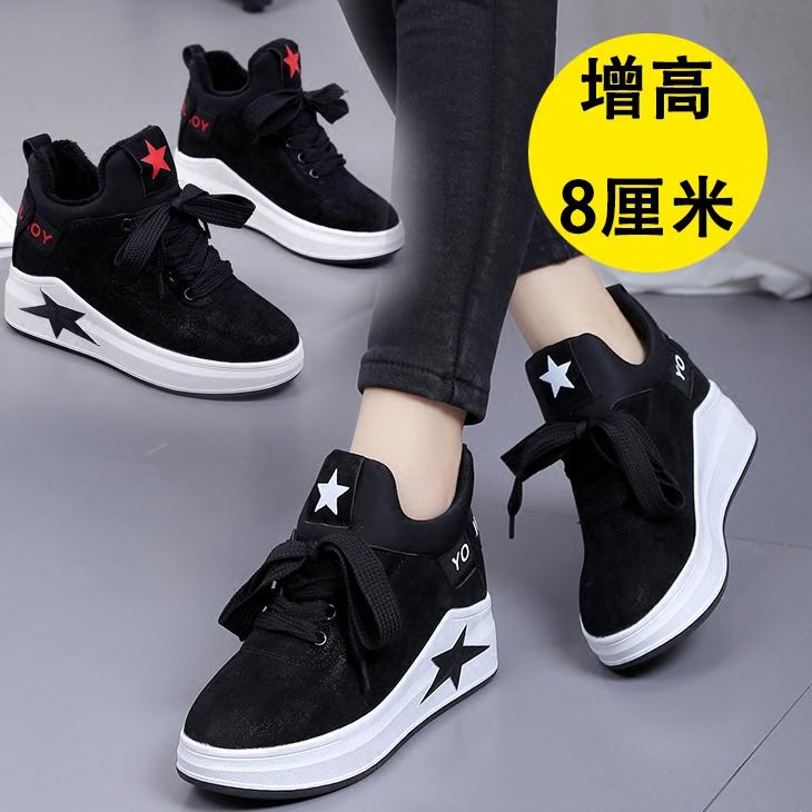 加绒黑色鞋子
