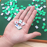Travel mini mahjong small travel portable folding table dormitory party game creative gifts