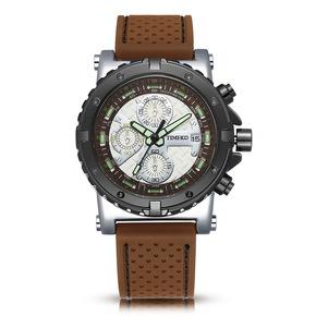 TIME100时光一百手表三眼多功能运动男表硅胶带男士手表石英手表