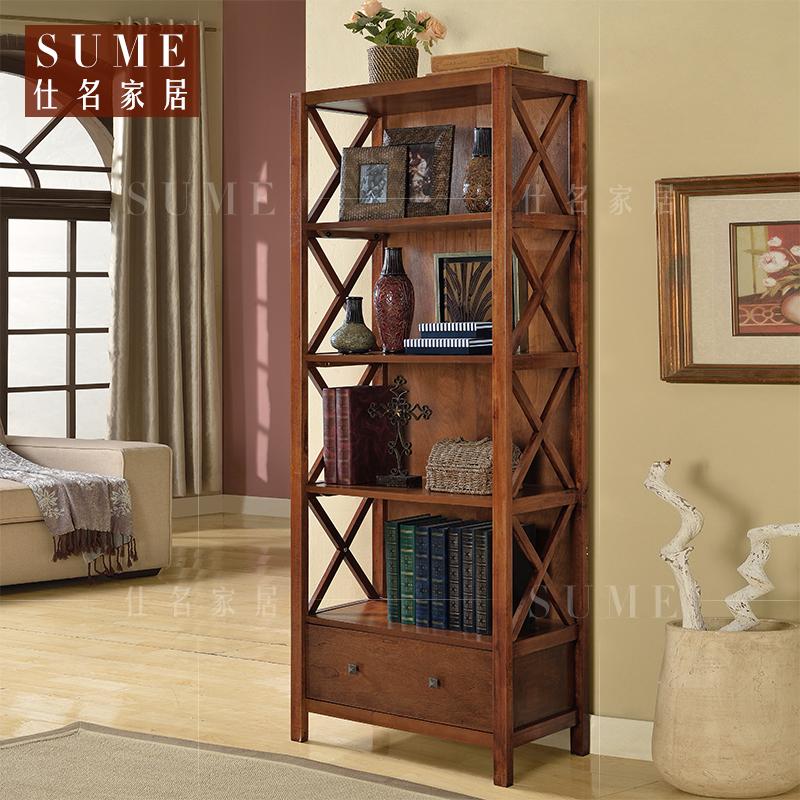 美式复古家具书柜