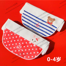 Export to Mikihouse Rabbit Bear, Cotton Baby Pad Back Scarf, Sweat Scarf, Baby Sweat Scarf