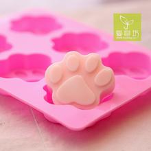 爱皂坊食品级软硅胶手工皂模具DIY可爱猫爪矽胶模具饼干模具