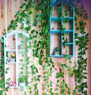 仿真花藤条果藤假花装饰植物藤条蔓管道装饰假花藤条假树叶绿萝