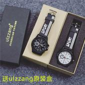 韩国ulzzang原宿男女学生韩版简约创意潮流复古休闲黑白情侣手表