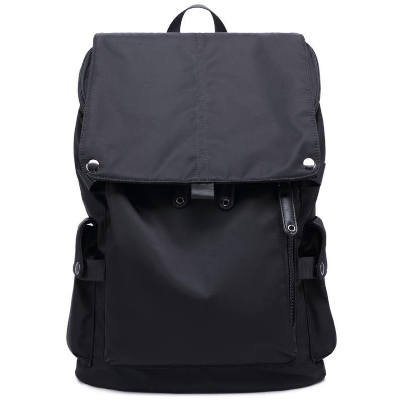 双肩包男韩版潮女士简约休闲背包防水尼龙帆布大容量旅行包书包