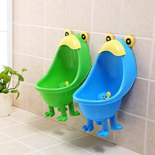加大儿童小便池宝宝青蛙便斗挂立两用马桶男童孩便器尿盆尿斗便池