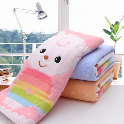 纯棉儿童毛巾被秋冬季加厚午睡宝宝盖被幼儿园毯子正方形浴巾包邮