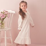 Xue Yake girls cotton pajamas spring and autumn long-sleeved children's princess court nightdress long cute baby home service