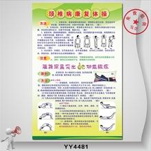 医院健康文化宣传海报 骨骼保健科普墙贴 颈椎病康复体操知识挂图