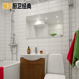 白色亮面美式地铁砖 长条亚光工字砖 厨房面砖 卫生间墙砖100*300图片