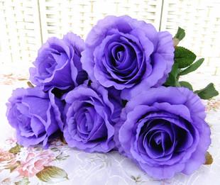 特价田园仿真花绢花玫瑰花装饰花玫瑰干花手捧花假花婚礼包邮批发