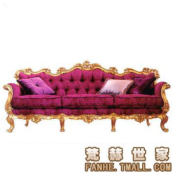 梵赫 1bs208 上海 新古典 三人沙发 绒布 红色 雕刻 客厅 沙发口碑如何