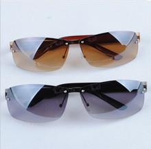 正品新款男士炫酷太阳眼镜半框运动渐变太阳镜潮开车司机墨镜