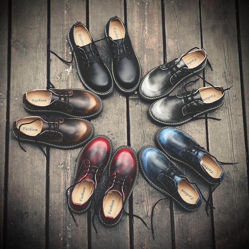 新款复古风真皮鞋