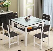 简约餐桌双层桌正方形家用饭桌小户型时尚储物桌子书房客厅四方桌