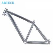 ARTECK 26寸*17寸架抛光拉丝银色山地自行车架 山地车三角架