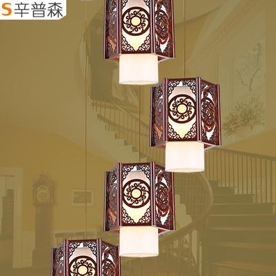 中式别墅楼梯吊灯双十二