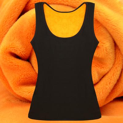 冬季棉保暖背心女加厚加绒内穿秋衣女士护胃马甲紧身打底衫有大码