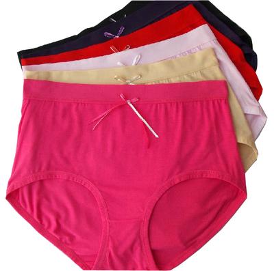 加肥加大大码莫代尔三角内裤 女士大码高腰底裤 女加肥纯色内裤