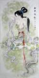 智琳手绘原稿真迹书画作品14016021西施絻纱四尺国画人物四美图