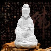 恒忆 陶瓷观音菩萨佛像 德化白瓷瓷器工艺品观世音供奉摆件
